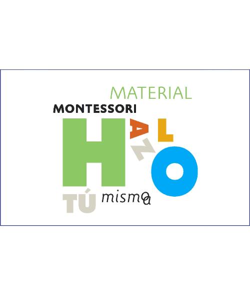Material Montessori. Hazlo en casa. Descargable
