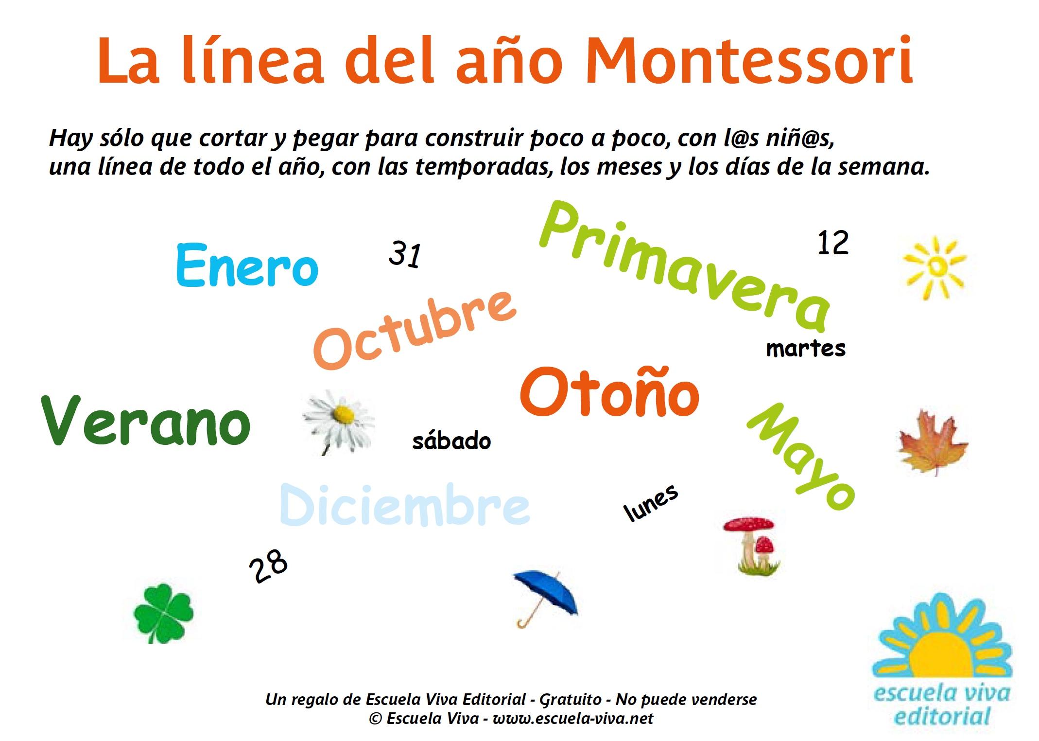 La línea del año Montessori